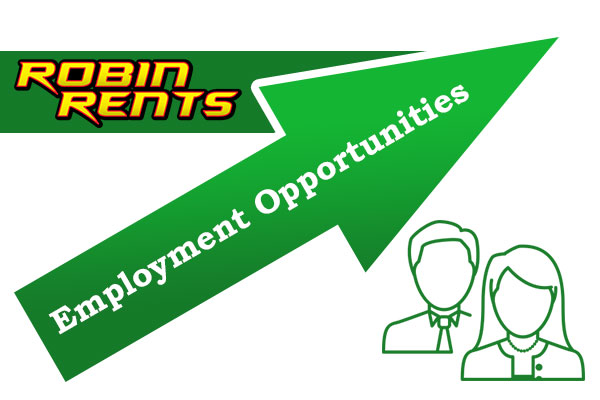 Employment at Robin Rents: Equipment Rental Huntsville Madison Decatur